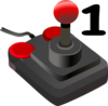 Joystick One Clip Art