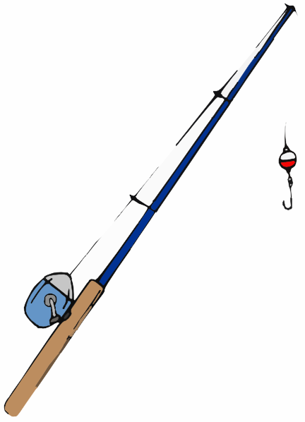 Small pole clip art at vector clip art online for Small fishing pole