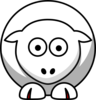 Sheep Looking Straight White With Red Toenails Clip Art
