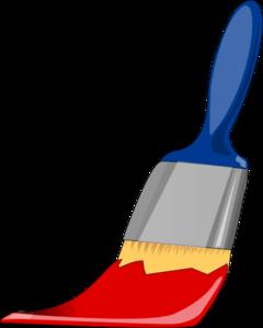paint brush blue and red clip art at clker com vector clip art rh clker com free clipart paint brush clipart paint brush stroke