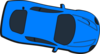 Blue Car - Top View - 350 Clip Art
