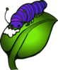 Purple Blue Catepillar Clip Art