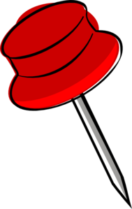 Pin-red Clip Art