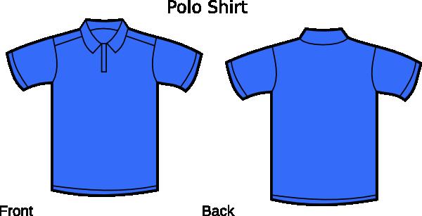 blue polo shirt clip art at clkercom vector clip art