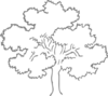 Grey Oak Tree Clip Art