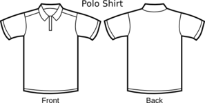 Polo Template Clip Art