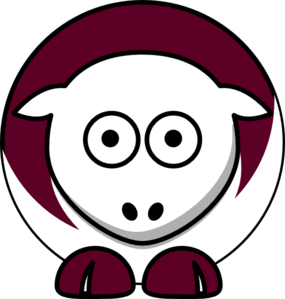Sheep - Texas A&m Aggies - Team Colors - College Football Clip Art