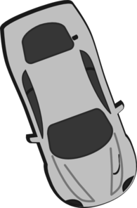 Gray Car - Top View - 290 Clip Art