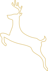 Tan Deer Outline Clip Art