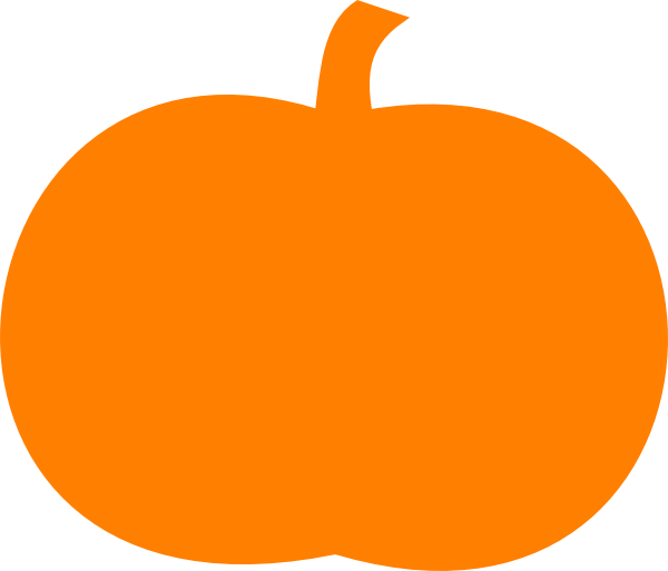 Orange Pumpkin Clip Art at Clker.com - vector clip art online, royalty ...