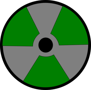 Silvergreen Atomic Warning Clip Art