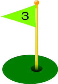 Golf Flag 3rd Hole Clip Art