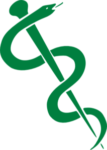 Rod Of Asclepius-dark Green Clip Art Clip Art