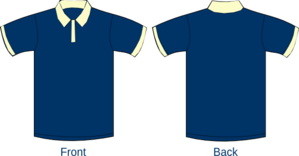 Polo Shirt Sleeves Navy Blue Clip Art