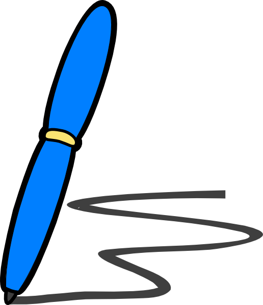 Blue Pen Write Clip Art at Clker.com - vector clip art ...