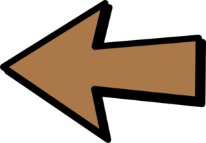 Left Arrow Brown Clip Art