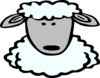 Sheep Face Clip Art