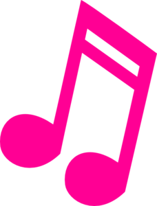 Hot Pink Music Note Clip Art
