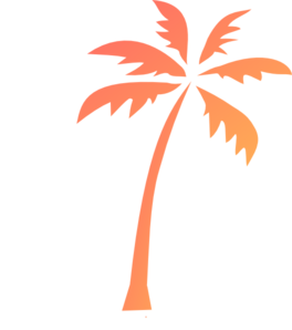 Palm Tree Dark 2 Clip Art