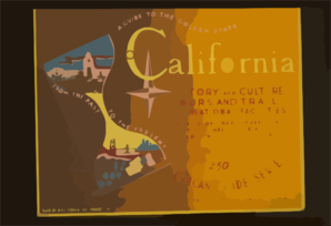 A Guide To The Golden State From The Past To The Present California History And Culture, Tours And Trails, Recreational Facilities : American Guide Series / B. Sheer. Clip Art