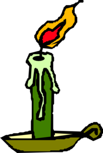 Candle, Green Clip Art
