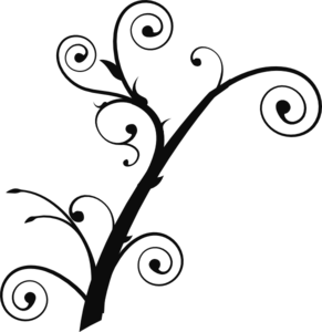 Curly Tree Clip Art