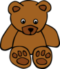 Baby Brown Bear Clip Art