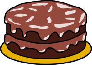 Chocolate Cake With No Candles Clip Art