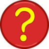 Yellow Question Mark Inside Red Circle Clip Art