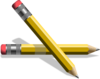 Yellow Pencils Clip Art