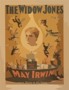 The Widow Jones John J. Mcnally S New Comedy. Clip Art