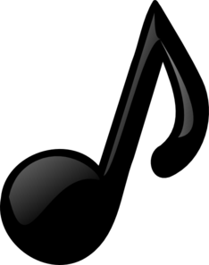 Black Eighth Note Clip Art