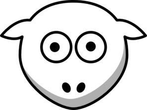 Sheep Head White- Looking Straight Clip Art at Clker.com ...