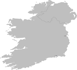 Ireland Contour Map High Def Clip Art