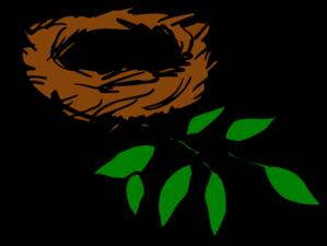 nest with leaves clip art at clker com vector clip art online rh clker com nest clipart black and white bird nest clip art