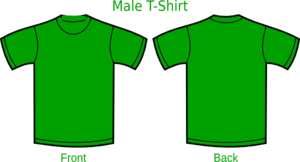 K Green T Shirt Clip Art