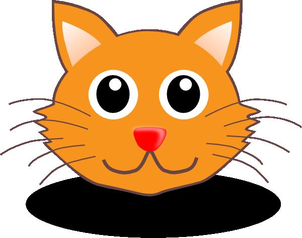cartoon kitty face clip art at clkercom vector clip art