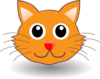 Cartoon Kitty Face Clip Art