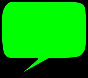 green speech bubble clip art