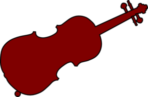 Brown Fiddle Clip Art
