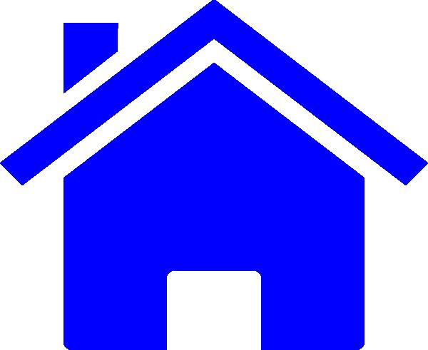 clip art blue house - photo #8