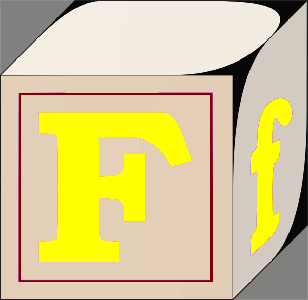 F Letter Clip Art At Clker Com