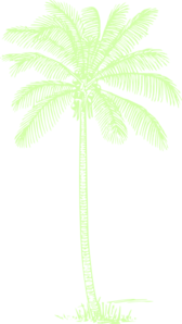 Single Green Palm Clip Art
