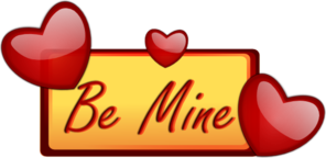 Be Mine Hearts Frame Clip Art