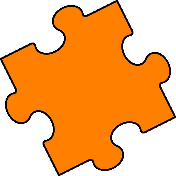 orange puzzle piece clip art at clkercom vector clip