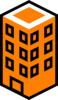 Office Building Orange Clip Art