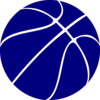 Blue Basketball Clip Art