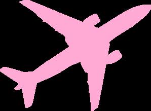 Airplane pink. Jet clip art at