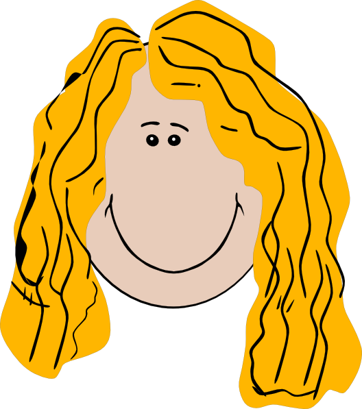 clip art curly hair girl - photo #30