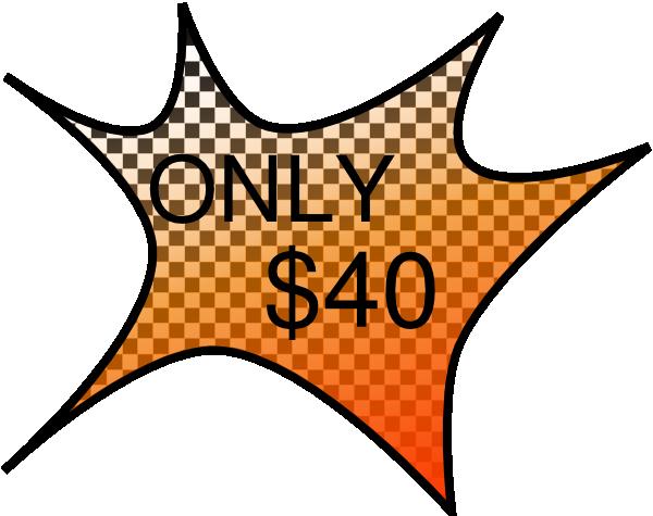 $40 Clip Art at Clker.com - vector clip art online ...